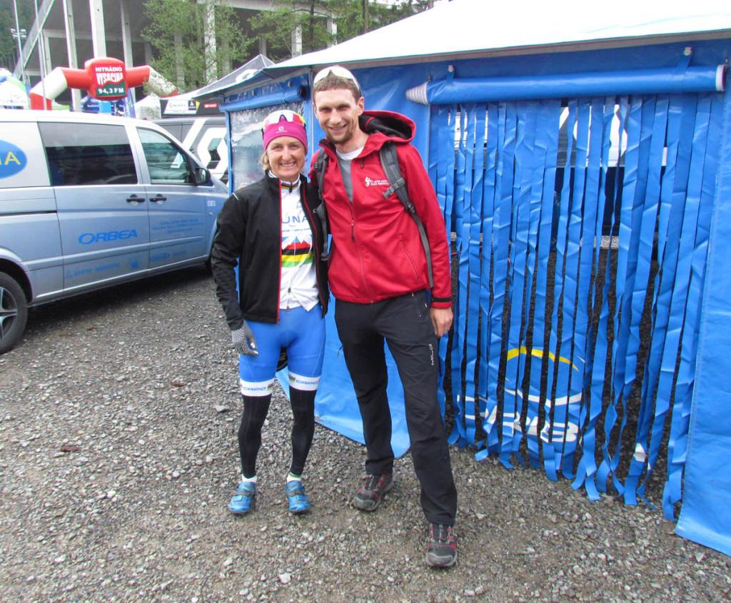 Z Catharine Pendrel- aktualną mistrzynią świata XCO