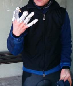 Ochrona po zmoczeniu rękawiczki