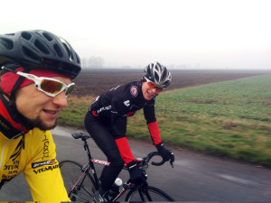 Środowy trening- Piotrek dociera nowy rower Rose