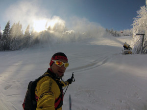 Trasami biegowymi można dobiec do Ski centrum Říčky v Orlických horách.
