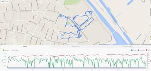 Lubię ślady GPS z biegów na orientację :)