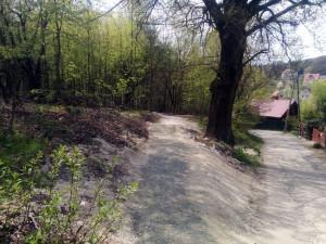 Koniec ścieżki pod Restauracją Zielone Wzgórze