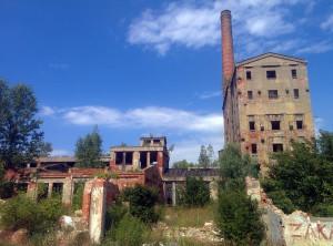 Malczyce w ruinie, nic się nie ostało, a kiedyś była cukrownia, papiernia, port,