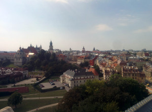 Panorama Lublina z baszty.