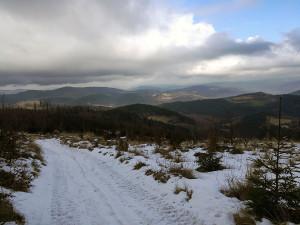 Widoczki na doliny na sam koniec wyprawy